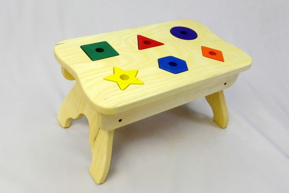 Kids Step Stool Puzzle Step Stool Wooden By