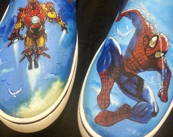 Custom Painted Marvel Shoes