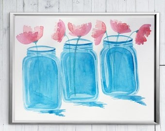 Mason Jar Wall Art mason jar art | etsy