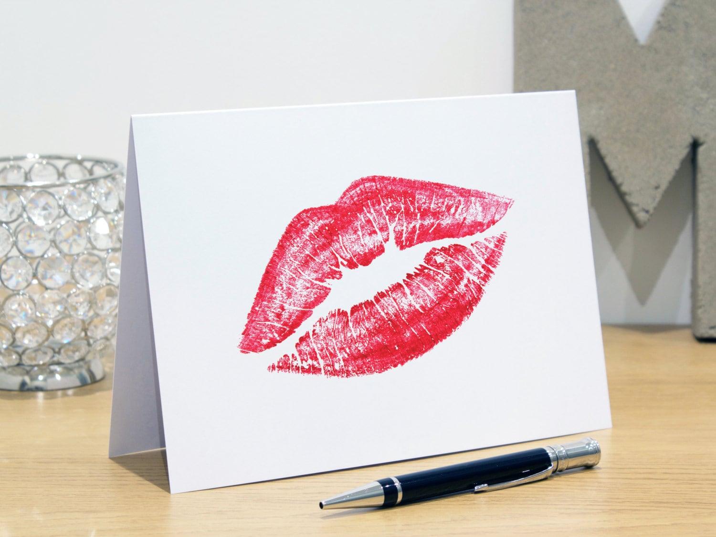 Personalised Lips Greeting Cards Fashion Print Fashion – Fashion Birthday Cards
