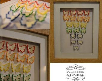 Rainbow Design Clay Butterfly Artwork