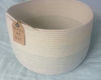 Cotton Rope Storage  Basket (medium)
