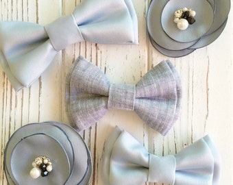 Light sky blue satin bowtie - sky blue bowtie - light blue bowtie -Daddy and son -pageboy- ring bearer bowties -Groomsmen bowtie -dog bowtie