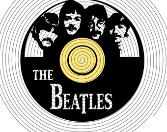 The Beatles Record Cutout SVG, DXF,PNG
