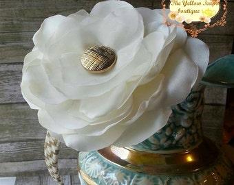 Ivory Silk Flower Headband