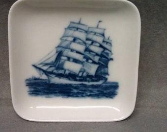 No longer available Royal Copenhagen Denmark Ship Design Dish Plate