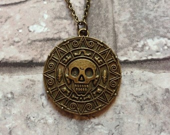 Golden Pendant Pirates of the Caribbean Style
