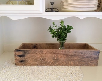 Wood Centerpiece Box | Rustic Wedding | Reclaimed Oak Pallet Wood Planter