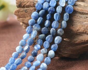 Natural Blue Kyanite Gemstone Pebble Nuggets Beads Bulk Supplies