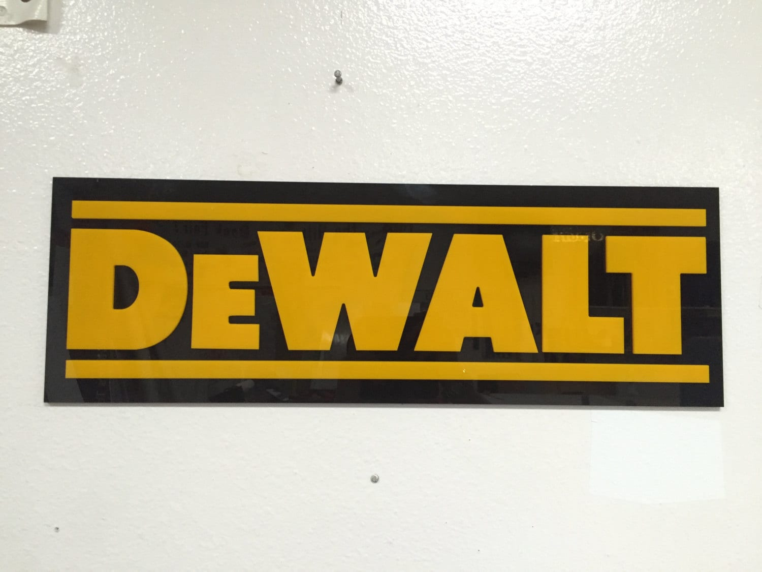 Etsy Caveman Signs : Dewalt wall sign by cavemansigns on etsy
