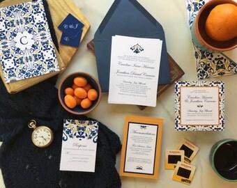 Spanish Tile Invitation, Mediterranean Invitation, Spanish Invitation, Colorful Invitation, Spanish Ornate, Spanish Tile Design - DEPOSIT