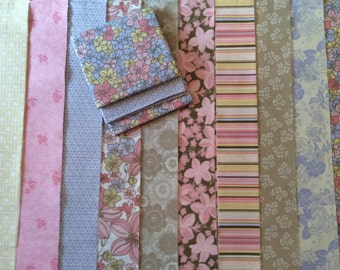 Vintage jelly roll and fat quarters