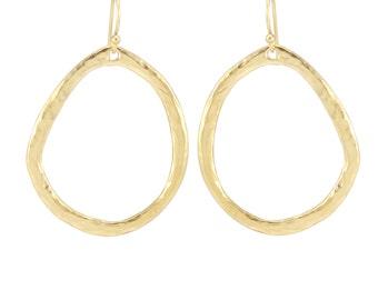 Tear drop shaped metal earrings,hammered earrings,big earrings,wedding earring, gold Earring, Silver Earring, Women's Gift for Her, Mom Gift