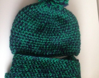 Handmade crochet hat & scarf set