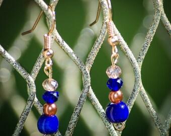 Deep Blue - Dangle Earrings