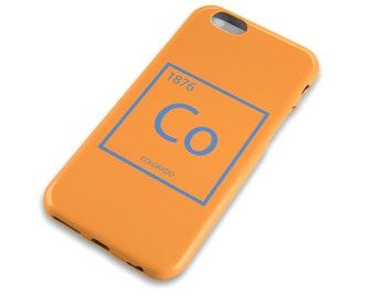 Colorado Element Cell Phone Case, Orange and Blue, Denver Broncos, Boulder, Science, Apple iphone, Samsung Galaxy, Note, Edge, Plus