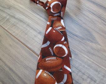 Football, Little Guy Ties, Newborn - 2T, Fabric Ties, Velcro Ties, Neckties
