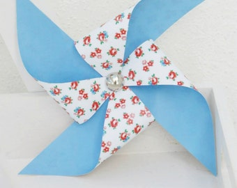Setof 3 Shabby Chic Madrid Colection paper decorative pinwheels