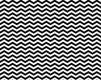 Black Chevron on White Cardstock Paper