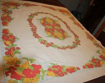 Fruit garland tablecloth
