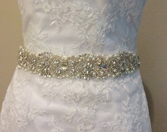 custom made  bridal sash, bridal belt, white sash, ivory sash, sash for wedding dress