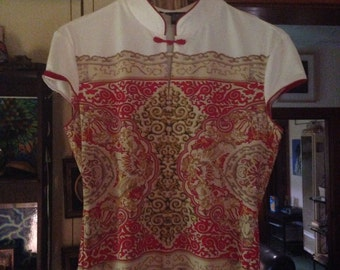 Asian style 90's blouse S
