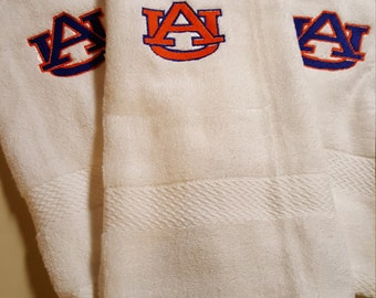 Hand Towel, Auburn, War Eagle