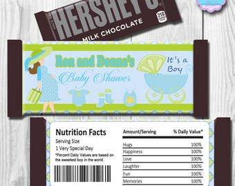 Baby Shower Candy Bar Wrapper, Hershey Bar Wrappers DIY PRINTABLE