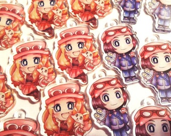 Pokemon XY Clear Acrylic Charms