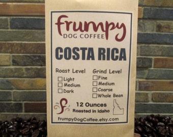 Costa Rica Coffee, 12 Ounces of Roasted Coffee, Fresh Roasted Coffee, Costa Rica