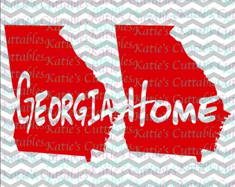 Georgia Home Name Deign .SVG/.DXF/.EPS and .png Files for EveryVinyl Cutting Machine