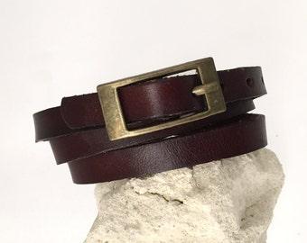leather wrap bracelet leather strap accessory shows color choice