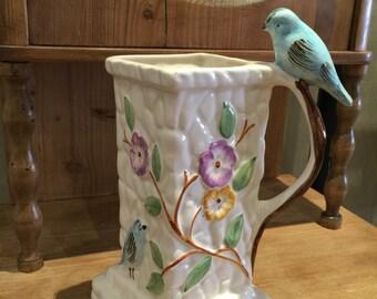 Vintage PPC ENGLAND Bluebird vase