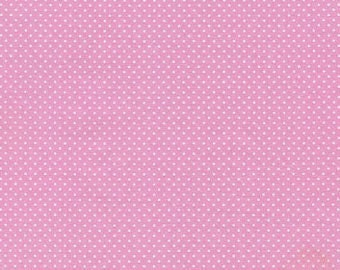 9.95 Yard - Timeless Treasures Ballet Pink Pin Dots - Ballet 4647 Pink