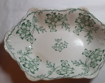 Vintage 'Claremont' Royal Semi Porcelain Johnson Bros. England Hexagonal Vegetable / Serving Bowl