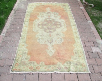 VINTAGE Cappodocia Tribal Turkish Handwoven Wool Rug Carpet  95x 53' inches