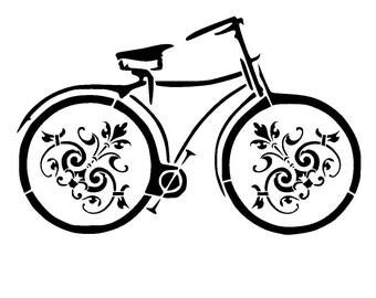 """5.8/8.3 """" vintage bicycle stencil 3. A5"""