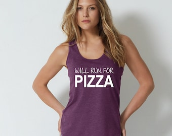 Will Run For Pizza Tank Top. Funny Pizza Shirt. Pizza Gym Tank. Running Shirt. I Love Pizza. Tank for Pizza Lovers. Pizza Vest. Pizza Life.