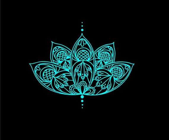 Lotus Flower Intricate Vinyl Decal Car Truck Auto Vehicle - Flower custom vinyl decals for car