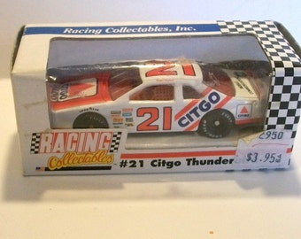 1991 Revell  Racing Collectibles Inc (RCI)  #21 Citgo Thunderbird 1/64 Scale NASCAR Diecast Car New In the Checkerboard Box
