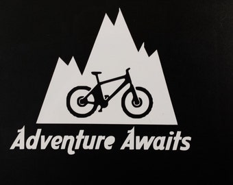 Mountain Bike Decal Etsy - Cycling custom vinyl decals for car