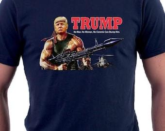 Donald Trump T-Shirt Trump as Rambo Shirt