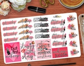 Makeup Junkie Quotes Stickers Perfect for your Erin Condren Life Planner or any other Planner!