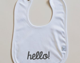 Personalized Baby Bib in Pima Cotton