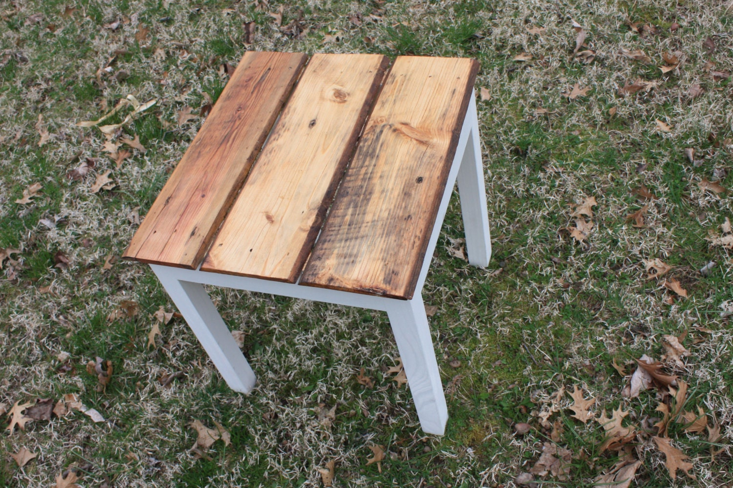 Reclaimed Wood Furniture End Table Reclaimed Wood End Table