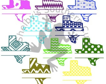 10 Texas pattern with Name SVG files