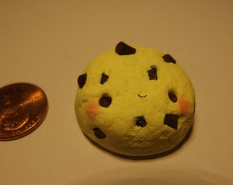 Polymer clay chocolate chip cookie
