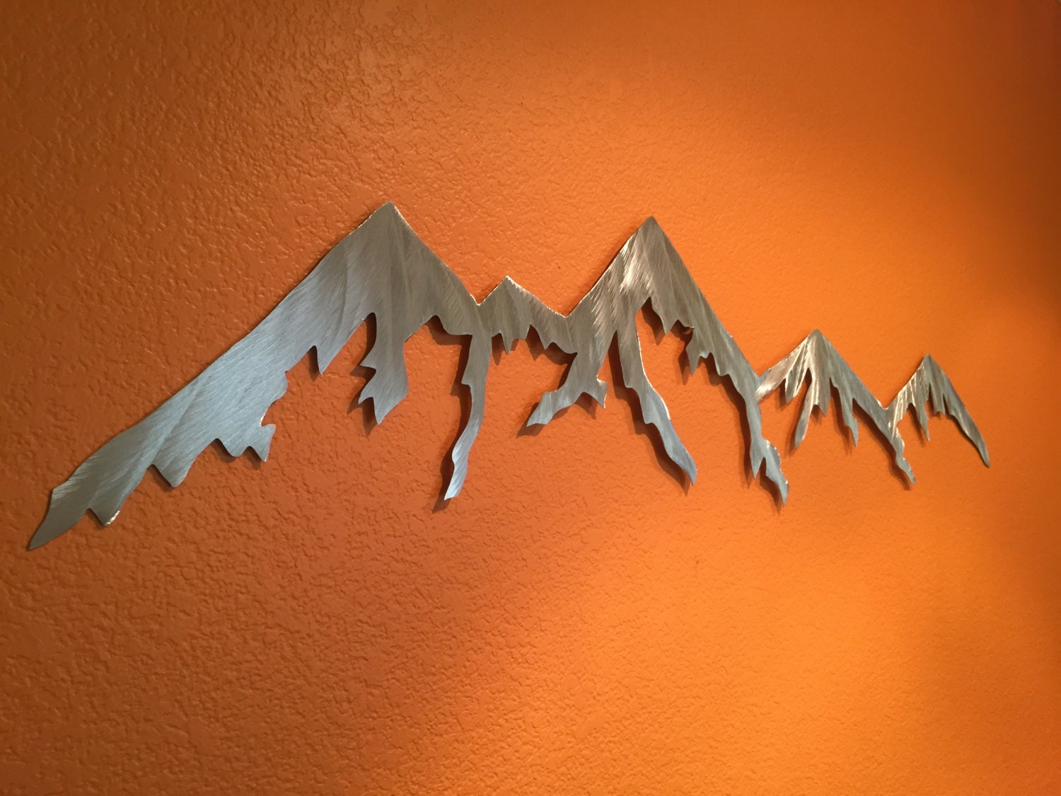 aluminum metal wall art mountains for outside or inside