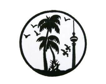Berliner Fernsehturm Tower Berlín Germany Embroidered Applique Iron on Patch