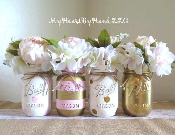 Mason Jar Baby Shower Decorations Alluring Baby Shower Decorations Pink And Gold Centerpieces Mason Jar Inspiration
